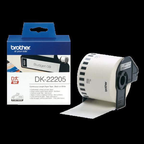 Ruban de papier continu Brother DK-22205