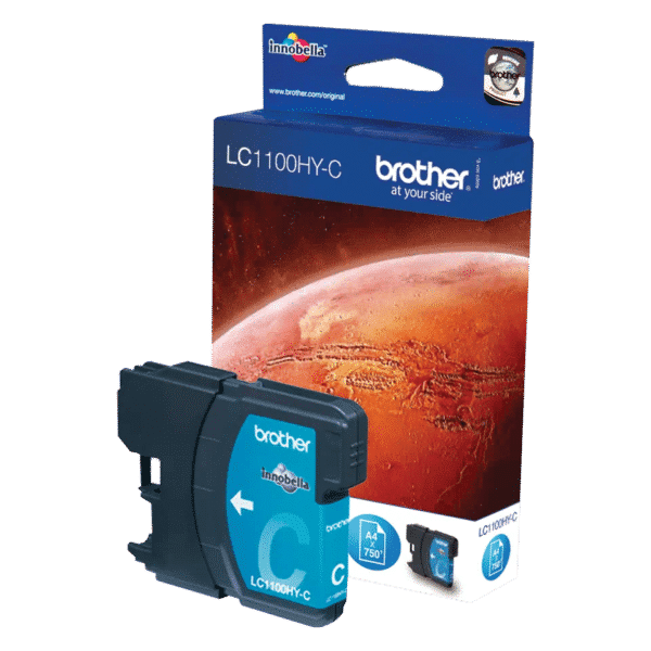 Cartouche d'encre Brother LC1100HYC - Cyan