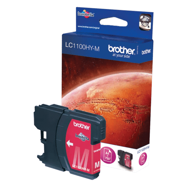 Cartouche d'encre Brother LC1100HYM - Magenta
