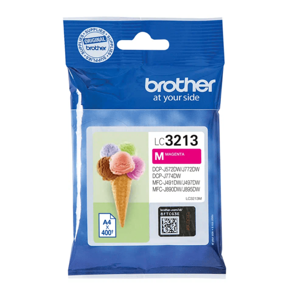 Cartouche d'encre Brother LC3213M - Magenta