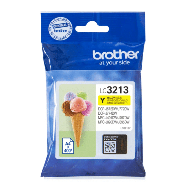 Cartouche d'encre Brother LC3213Y - Jaune