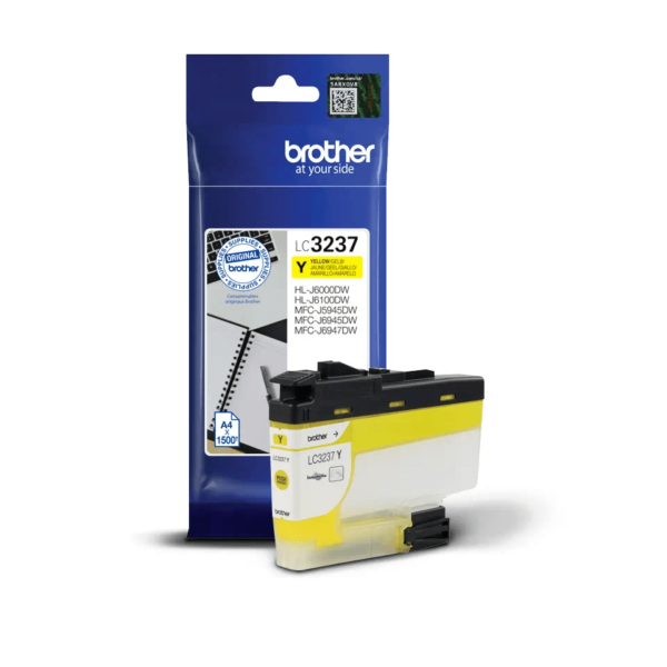 Cartouche d'encre Brother LC3237Y - Jaune