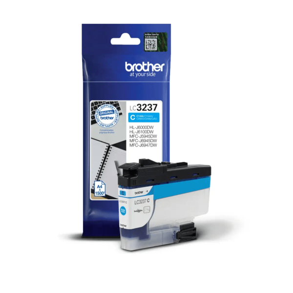 Cartouche d'encre Brother LC3237C - Cyan