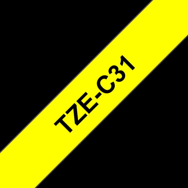 Cassette à ruban Fluo Brother TZe-C31