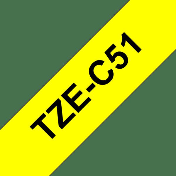 Cassette à ruban Fluo Brother TZe-C51