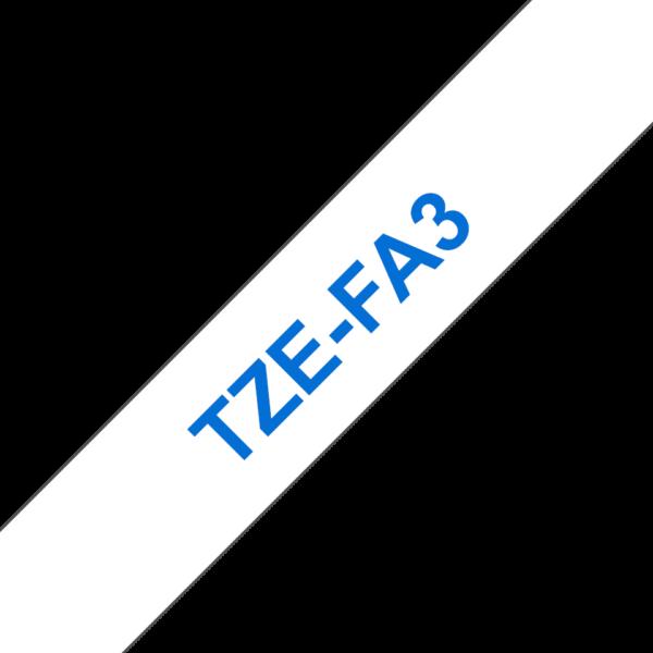 Cassette à ruban textile Brother TZe-FA3
