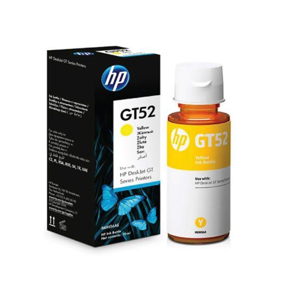 Bouteille d'encre HP GT52 - Jaune