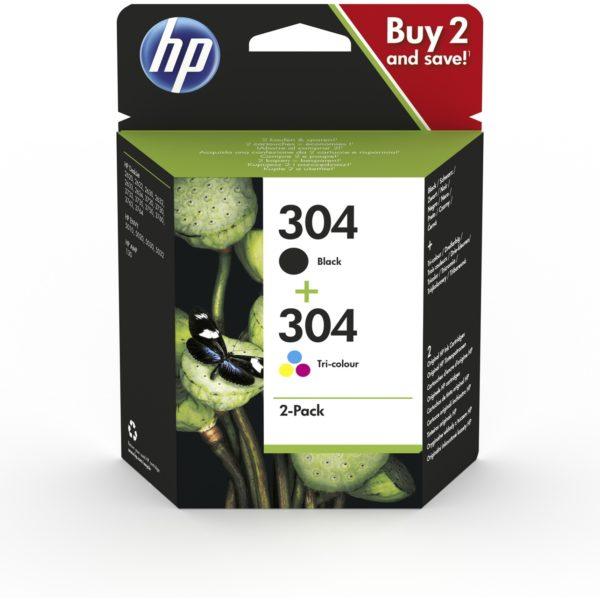 Cartouche d'encre HP 304 - Noir et 3 Couleurs